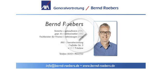 AXA Roebers | Video Risikolebensversicherung
