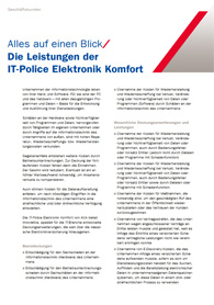 Produktflyer IT-Elektronikversicherung
