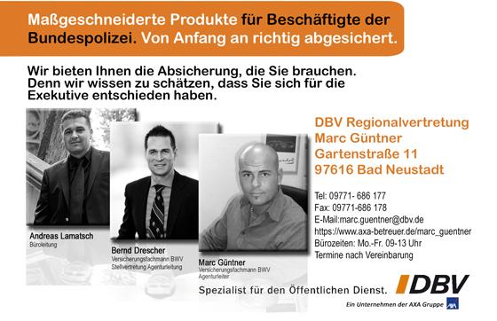 DBV Deutsche Beamtenversicherung<br>Spezialist für den Öffentlichen Dienst Marc Güntner aus Bad Neustadt a.d.Saale