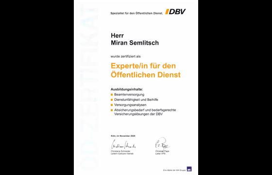 DBV - Experte/in für den Öffentlichen Dienst