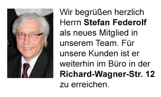 Unser neues Mitglied - Stefan Federolf