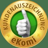 Ekomi Siegel in gold